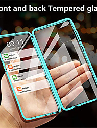 cheap -Magnetic Adsorption Double Sided Case For Samsung Galaxy S21 Plus S21 Ultra / Galaxy A91 / M80S / Galaxy A71 / Galaxy A51 Mirror Full Body Cases Solid Colored Tempered Glass / Metal