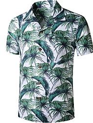 preiswerte -Herrn Landschaft Palme Druck Hemd Tropisch Alltag Grün