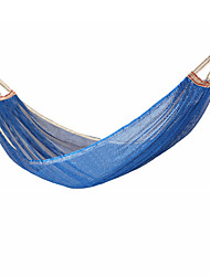 cheap -Camping Hammock Outdoor Breathability Wearable Reusable Adjustable Flexible Folding Nylon PVA Ice Silk for 1 person Hunting Hiking Beach Blue Red Pink 200*150 cm Pop Up Design