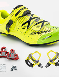cheap -SIDEBIKE Adults' Cycling Shoes With Pedals & Cleats Road Bike Shoes Cushioning Cycling / Bike Cycling Shoes / Breathable Mesh