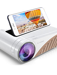 cheap -S6 Mini Projector Support 1080p Portable HD Home Theater LED Smart Video Projector,Option Android 10 HDMI USB Movie Proyector Beamer
