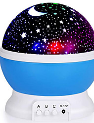 cheap -Baby & Kids' Night Lights Moon Star Starry Night Light LED Lighting Glow 6 V USB Batteries Powered Kid's Adults for Birthday Gifts and Party Favors  1 pcs