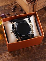 Недорогие -Муж. электронные часы Цифровой силиконовый Черный Секундомер Новый дизайн Светодиодная лампа Цифровой Мода Cool - Черный