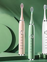 Недорогие -6 передач ультразвуковой sonics электрическая зубная щетка usb заряд аккумуляторная зубная щетка водонепроницаемый электронный отбеливание зубная щетка