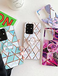cheap -Case for Samsung Samsung S20 S20plus note10 note10pro splicing marble plating process TPU material airbag bracket smooth beautiful mobile phone case