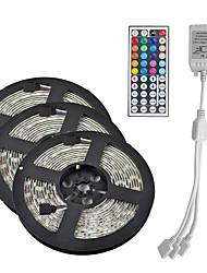 Недорогие -15 м (3 * 5 м) 3528 RGB 900 светодиодов 8 мм полосы гибкие светодиодные ленты струнные светильники водонепроницаемые переменного тока 12 В 600 светодиодов с 44key