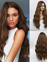 cheap -Synthetic Wig Weave Wavy Water Wave Middle Part Side Part Wig Very Long Light Brown Synthetic Hair 26 inch Women's Classic Women Synthetic Light Brown HAIR CUBE / African American Wig