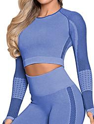 cheap -Activewear Top Split Joint Women's Training Long Sleeve Chinlon