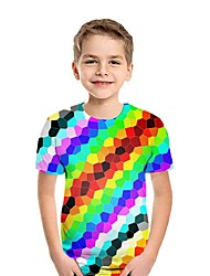 cheap -Kids Boys' Street chic Color Block Short Sleeve Tee Purple