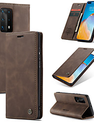 cheap -CaseMe Retro Leather Magnetic Flip Case For Huawei P40 / P40 Pro / P40 Lite / P30 / P30 Pro / P30 Lite / P20 / P20 Pro / Mate 30 / Mate 30 Pro With Wallet Card Slot Stand Case Cover
