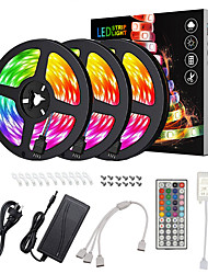 cheap -15m Light Sets LED Light Strips RGB Tiktok Lights 450 LEDs 5050 SMD 10mm 1 12V 6A Adapter 1 44Keys Remote Controller 1 DC Cables 1 set Waterproof Cuttable Linkable 100-240 V IP65 Self