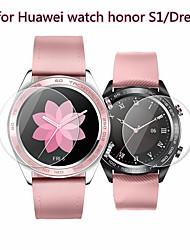 Недорогие -2 шт протектор экрана для часов huawei чести мечта / s1 закаленное стекло прозрачное высокое разрешение (hd) царапинам / твердость 9 ч