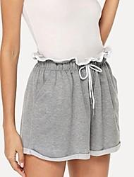 abordables -Femme Basique Chino / Short Pantalon - Couleur Pleine Gris S M L