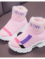 cheap -Girls' Bootie Mesh Boots Little Kids(4-7ys) Black / Pink / Beige Winter