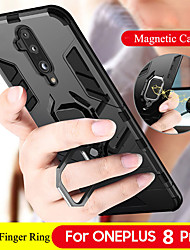 cheap -Luxury Magnetic Ring Stand Armor Phone Case For OnePlus 8 Pro OnePlus 7T Pro One Plus 7 Pro OnePlus 6T One Plus 6 Shockproof Hard PC Back Cover Soft TPU Bumper Protect