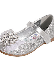 cheap -Girls' Comfort / Flower Girl Shoes PU Flats Dress Shoes Toddler(9m-4ys) / Little Kids(4-7ys) Rhinestone / Bowknot / Sparkling Glitter Dusty Rose / Blue / Silver Spring / Fall / Party & Evening