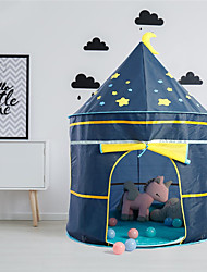 cheap -Play Tent & Tunnel Playhouse Tent Kids Play Tent Castle Teepee Castle Star Space Rocket Foldable Convenient Pop up Tent Polyester Polyester Microfiber Indoor Outdoor Spring Summer Fall 3 years+ All