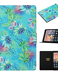 cheap -Case For Amazon Kindle Paperwhite 2/3/4 / Amazon HD8(2016) Card Holder / with Stand / Pattern Full Body Cases Scenery PU Leather For kindle fire HD 10 2015 2017