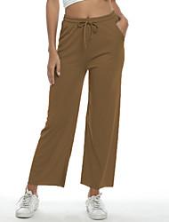 זול -מכנסיים בגדי ריקוד נשים רגל רחבה אחיד בסיסי