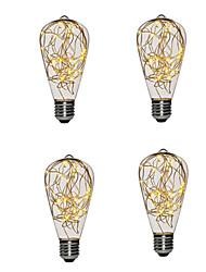 baratos -4 pcs st64 quente branco cobre levou guirlanda luz do feriado para o ano novo natal decoração de casa luzes de fadas lâmpada interior noite lâmpada
