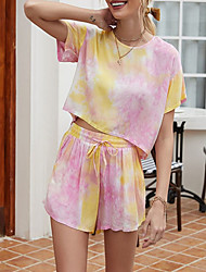 cheap -Summer Comfy Tie-Dye One Piece Pajamas