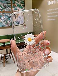 cheap -Glitter Powder 3D Daisy Phone Case For iPhone SE 2020 / 11 / 11Pro / 11 Pro Max / X /  XS / XR /  XS Max / 8Plus / 8 / 7Plus / 7 / 6sPlus / 6S  Soft Silicone Clear Back Cases Epoxy Cover