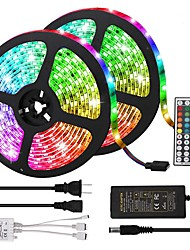 cheap -10m Light Sets LED Light Strips RGB Tiktok Lights 600 LEDs 5050 SMD 10mm Remote Control RC Cuttable Dimmable 100-240 V Linkable Self-adhesive Color-Changing IP44