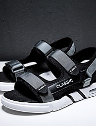 cheap -Men's Summer Outdoor Sandals Canvas Non-slipping Black / Blue / Gray