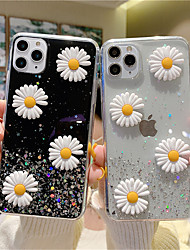 cheap -3D Daisy Bling Sequins Phone Cover For iPhone SE 2020 / 11 /11Pro /11 Pro Max / XS / X / XR XS MAX / 8Plus / 8 / 7Plus / 7 / 6Plus / 6 Soft Silicone TPU Back Case Glitter Daisy Case