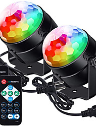 cheap -Partylights Discoball 360 Rotatable Discolights Sound Activated Remote Control Dj Lighting 7 Color Patternes3 Lightning Mode6 Colours for All Parties Wedding