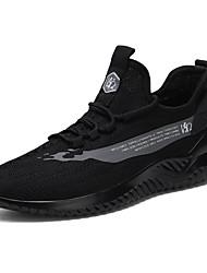 abordables -Homme Eté Sportif / Simple Athlétique De plein air Chaussures d'Athlétisme Course à Pied Tissage Volant Respirable Ne glisse pas Blanche / Noir / Beige Slogan