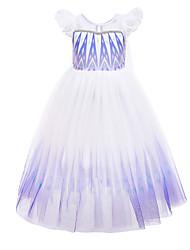 cheap -Frozen Princess Dress Girls' Movie Cosplay Vacation Dress Halloween Christmas White Dress Christmas Halloween / Cap Sleeve