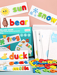 cheap -Educational Flash Card Educational Toy Letter Spelling Letter Reading Game Improve Memory Wood Kid's Preschool Cute Kits Non Toxic 52 pcs 3-6 Y