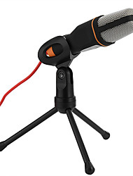 cheap -Brand New Audio Wired Stereo Condenser SF-666 Microphone With Holder Stand Clip For PC Chatting Singing Laptop