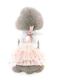 cheap -Dog Dress Character Rabbit / Bunny Animal Stylish Sweet Style Dog Clothes Puppy Clothes Dog Outfits White Pink Costume for Girl and Boy Dog Cotton XS S M L XL