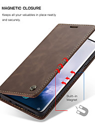 cheap -CaseMe New Retro Leather Magnetic Flip Case For OnePlus 8 / OnePlus 8 Pro With Wallet Card Slot Stand Cover