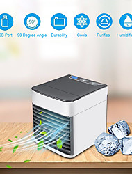 cheap -Mini Portable Air Conditioner 7 Colors Light Air Conditioning Humidifier Purifier USB Air Cooler Fan with Water Tanks for Home