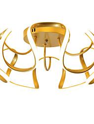 abordables -lumière dorée de luxe minimaliste chambre chambre lumière moderne simple plafonnier 54w