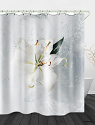 cheap -Beautiful Water Splash Digital Print Waterproof Fabric Shower Curtain for Bathroom Home Decor Covered Bathtub Curtains Liner Includes with Hooks