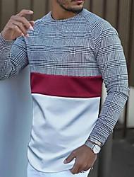 halpa -Miesten Geometrinen Painettu T-paita Päivittäin Harmaa