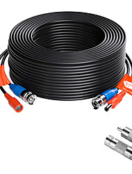 cheap -ZOSI 1Pack 100ft (30m) AHD-TVI BNC Video Male DC Power Jack Male/Female Extension Cable for CCTV Security Surveillance Camera