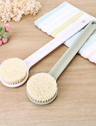 Недорогие -щетка для ванны длинная деревянная ручка тянется назад душ для тела щетинный скруббер спа ванная комната щетка для массажа мочалкой для тела спа случайный цвет