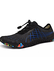 cheap -Men's Summer Sporty Athletic Trainers / Athletic Shoes Upstream Shoes PU / Elastic Fabric Non-slipping Black / Silver / Black / Blue / Dark Blue