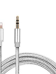 Недорогие -1 м для освещения к вспомогательному кабельному преобразователю Aux 3,5 мм штекер наушников для наушников aux line наушники аудио адаптер для iphone ipad ios