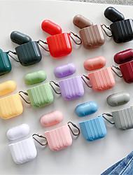 Недорогие -Airpods защитная крышка чехол ци беспроводная зарядка чехол простой стиль устойчивый к царапинам силиконовой резины
