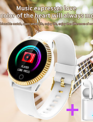 cheap -JSBP C19  Women Smart Bracelet Smartwatch BT Fitness Equipment Monitor Waterproof with TWS Bluetooth Wireless Headphones Music Headphones for Android Samsung/Huawei/Xiaomi iOS Mobile Phone