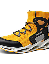 cheap -Men's Spring & Summer / Fall & Winter Casual Daily Outdoor Trainers / Athletic Shoes Fitness & Cross Training Shoes / Walking Shoes Tissage Volant Breathable Non-slipping Height-increasing White