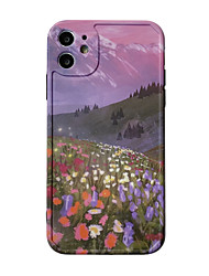 cheap -Case For Apple iphone 11/pro11proMax/x/XS/XR/XSMax/8p/8/7P/7/SE(2020)Cover TPUScenery  Flower soft shell  iphone case set