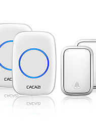 cheap -CACAZI Wireless No Battery Required Doorbell Transmitter Intelligent Home Self-powered Call Ring Bell US EU UK AU Plug Receiver