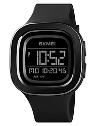 cheap -SKMEI Men's Sport Watch Digital Modern Style Sporty Outdoor Calendar / date / day Silicone Black / Green / Pool Digital - Black Blue Green One Year Battery Life / Chronograph / Dual Time Zones